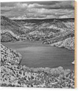 Santa Cruz Lake, New Mexico, April 18, 2016 Wood Print