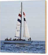 Santa Cruz Sailing Wood Print