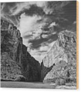 Santa Elena Canyon Black And White Wood Print