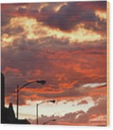 Santa Fe At Dusk New Mexico Wood Print