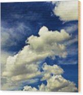 Santa Fe Clouds Wood Print