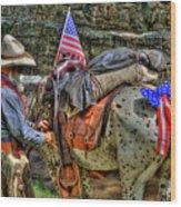 Santa Fe Cowboy Wood Print