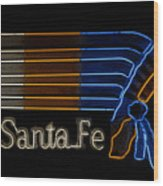 Santa Fe Indian Wood Print
