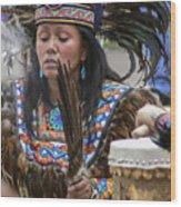 Santa Fe - La Shamana Wood Print