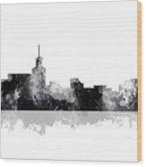 Santa Fe New Mexico Skyline Wood Print