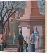 Santa Fe Plaza Wood Print