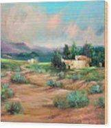 Santa Fe Pueblo Wood Print
