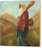 Santa Fe Sam Wood Print