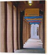 Santa Fe Sidewalk Wood Print