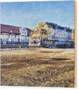 Santa Fe Train In Ardmore Wood Print