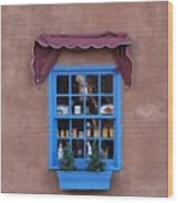 Santa Fe Window Wood Print