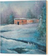 Santa Fe Winter Wood Print