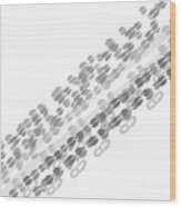 Santa Footprints Wood Print