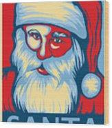 Santa Hope Wood Print