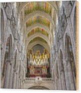 Santa Iglesia Catedral De Santa Maria La Real De La Almudena Wood Print
