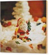 Santa In Town Wood Print
