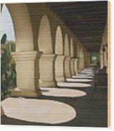 Santa Inez Arches Wood Print