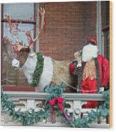 Santa Is Watching You Wood Print