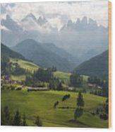 Santa Maddalena - Italy Wood Print