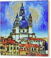 Santa Maria Venice Wood Print