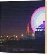 Santa Monica - Ferris Wheel Wood Print
