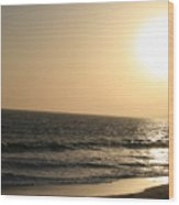 Santa Monica At Sunset Wood Print