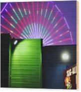 Santa Monica Pier After Dark Wood Print
