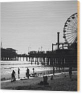 Santa Monica Pier Wood Print by John Gusky