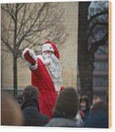Santa Says Hello Wood Print