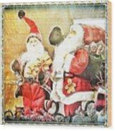 Santa Scene 2 Wood Print