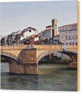 Santa Trinita Bridge Wood Print