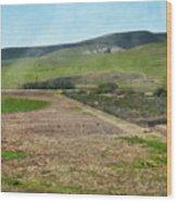 Santa Ynez Mountains Green Hills Ranch Wood Print