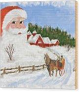Santas Beard Wood Print