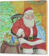 Santas Secret Wood Print