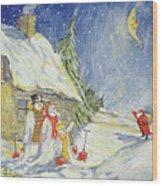 Santa's Visit Wood Print