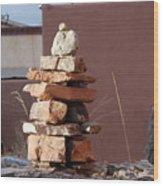 Sante Fe Rocks Wood Print