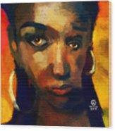 Santia In Orange 726 Wood Print