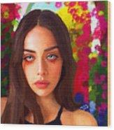 Santia Is Crying 659 Wood Print