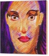 Santia Seen By Maca Wood Print