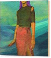 Santia Walking On Water Wood Print