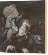 Santiago At The Battle Of Clavijo Wood Print