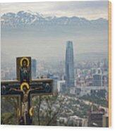 Santiago Chile Panoramic Wood Print