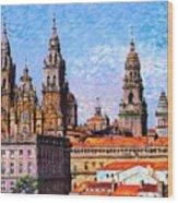 Santiago De Compostela, Cathedral, Spain Wood Print