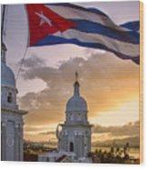 Santiago De Cuba Dusk Wood Print
