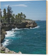 Santo Domingo Coastal View. Wood Print