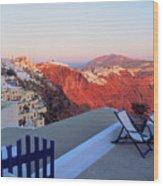 Santorini 019 Wood Print
