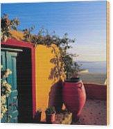 Santorini 09 Wood Print