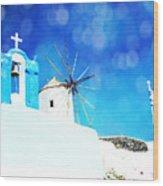 Santorini 1 Wood Print