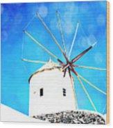 Santorini 2 Wood Print