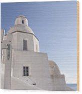 Santorini Church #6 Wood Print